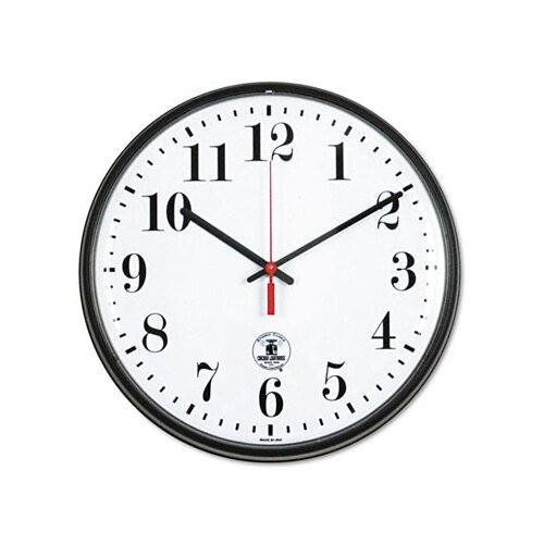 """Chicago Lighthouse For The Blind Atomic Slimline 12.75"""" Wall Clock"""