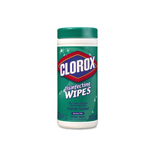 Clorox Company Fresh Scent Disinfecting Wet Wipes, Cloth, 35/Canister