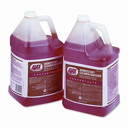 Colgate Palmolive Ajax Expert Disinfectant Cleaner/Sanitizer, 1Gal Bottle, 2/Carton