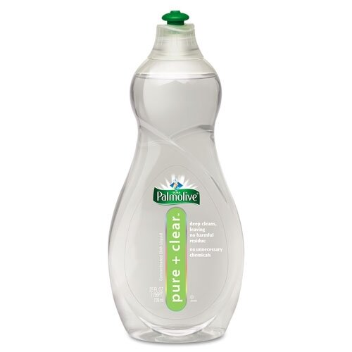 Colgate Palmolive Pure and Clear Dish Liquid, Light Scent, 25 Oz Bottle