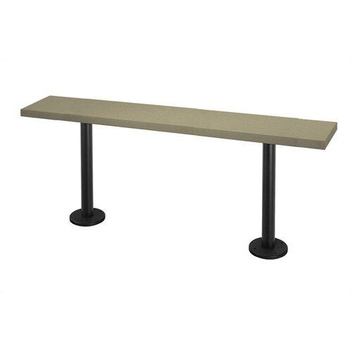 Lenox Plastic Lockers Lenox Pedestal Bench - 4 Ft (2 Pedestals)