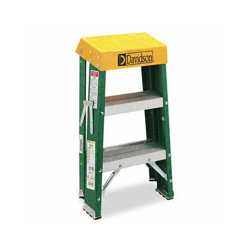 DAVIDSON LADDER, INC. Louisville #624 Folding Locking 2-Step Step Stool