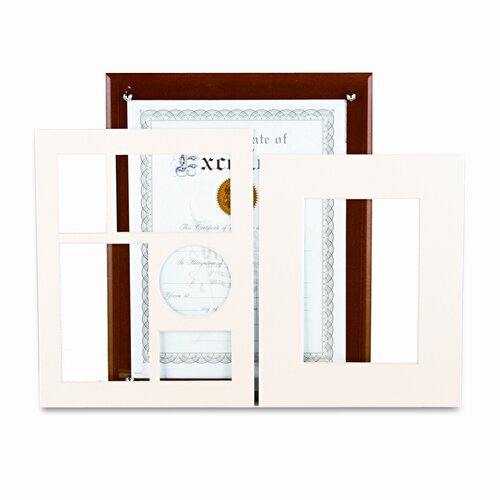 DAX® Plaque-In-An-Instant Kit with Certificates/Mats, Wood/Acrylic, 10-1/2 X 13
