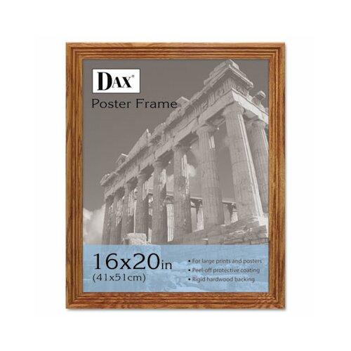 DAX® Plastic Poster Frame, Traditional with clear plastic window, 16 x 20, Medium Oak