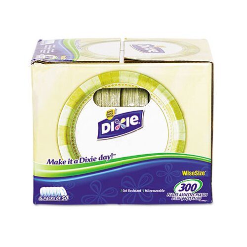 Dixie Pathways Mediumweight Paper Plates, In Dispenser Box, Wisesize, 600/Carton