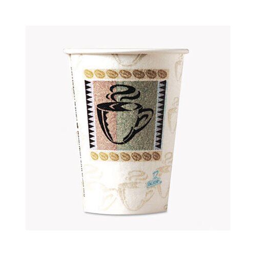 Dixie Coffee Dreams Design Paper Hot Cups, 12 Oz., 50/Pack