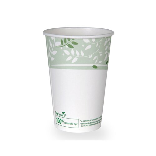Dixie EcoSmart Hot Cups, PLA Lined Paper, Viridian, 16 oz (1000 Per Order)