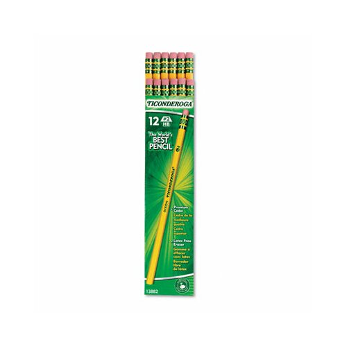 Dixon® Ticonderoga Woodcase Pencil, Hb #2, 96/Pack