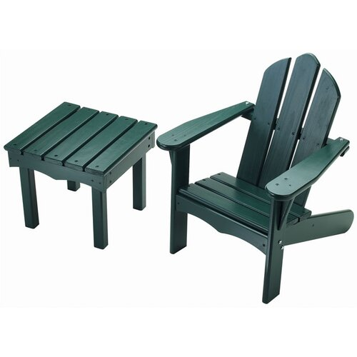 Little Colorado Child's Adirondack Side Table and Chair Set
