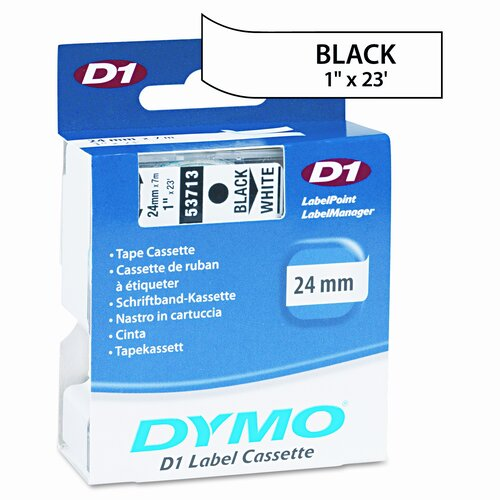 "Dymo Corporation 53713 D1 Standard Tape Cartridge for Label Makers, 1"" x 23'"