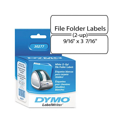 Dymo Corporation 2-Up File Folder Labels, 260/Pack