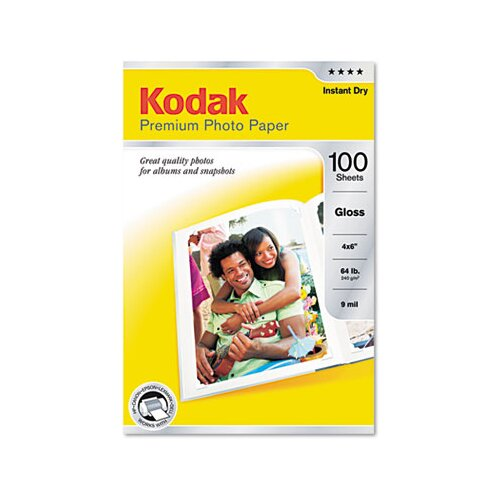 Eastman Kodak Glossy Premium Photo Paper, 100 Sheets/Pack