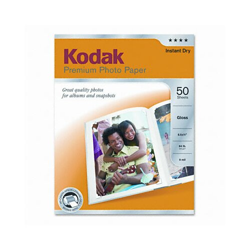 Eastman Kodak Glossy Premium Photo Paper, 50 Sheets/Pack