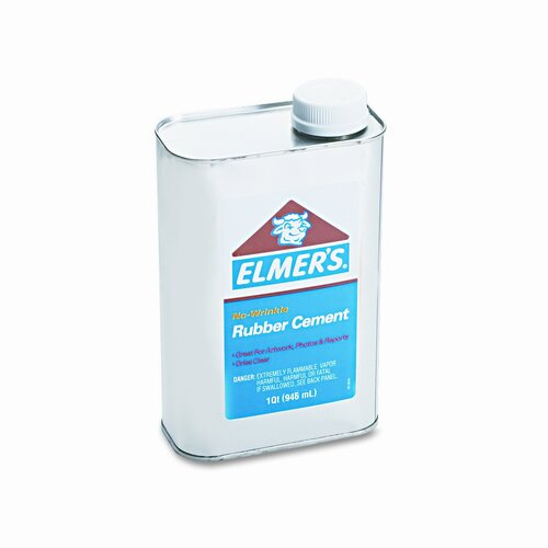 Elmer's Products Inc Rubber Cement, Repositionable, 1 Quart