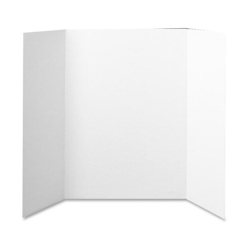 "Elmer's Products Inc Project Board Display, Tri-Fold Board, 36""x48"", White"