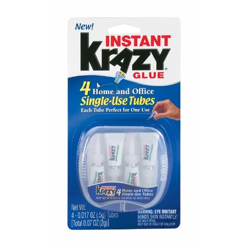 Elmer's Products Inc Instant Krazy Glue Single Use Tube