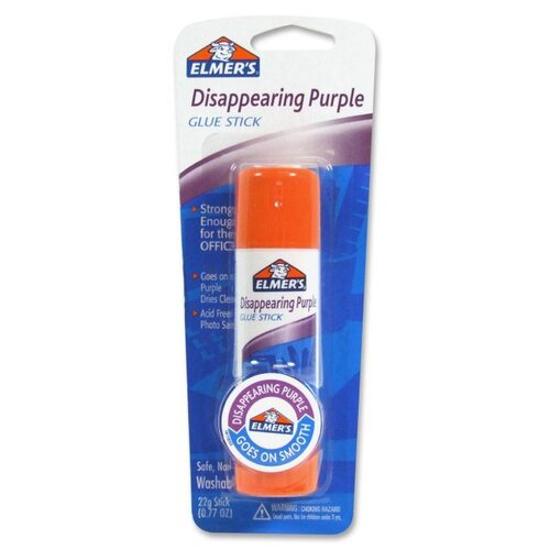 Elmer's Products Inc Glue Sticks, .77 oz., Purple Dries Clear