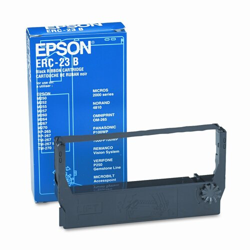 Epson America Inc. ERC23B/ERC23BR Cash Register Ribbon, Nylon, Black