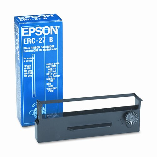 Epson America Inc. ERC27B Cash Register Ribbon, Nylon, 750K Yield