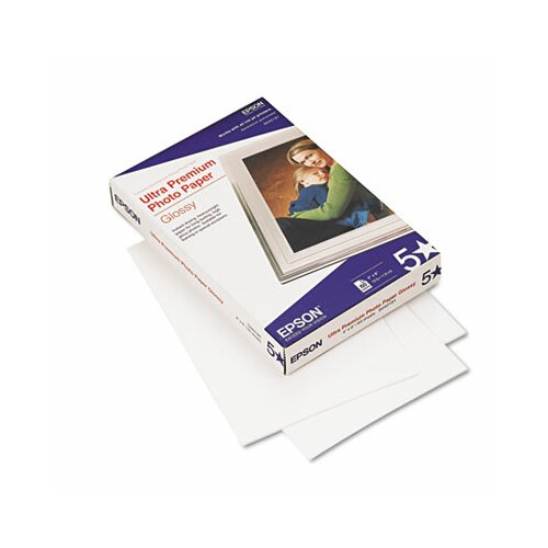 Epson America Inc. Ultra-Premium Glossy Photo Paper, 4 x 6, 60 Sheets per Pack