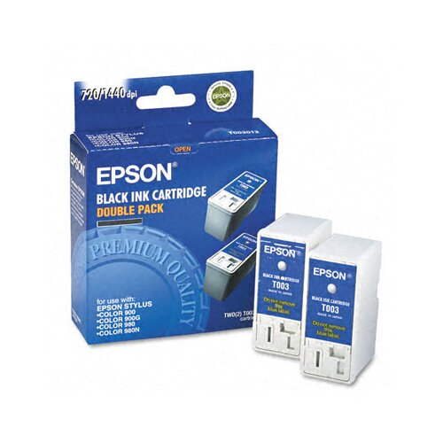 Epson America Inc. T003012 (T003011) Inkjet Cartridge, 2/Pack, Black