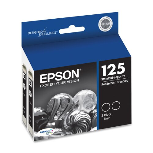 Epson America Inc. Ink Cartridge, 230 Page Yield, 2 per Pack, Black