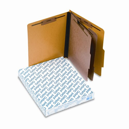 Esselte Pendaflex Corporation Pressguard Classification Folders, Letter, Six-Section, 10/Box