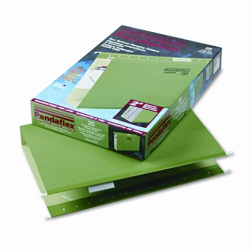 "Esselte Pendaflex Corporation Reinforced 2"" Extra Capacity Hanging File Folders, Legal, 25/Box"