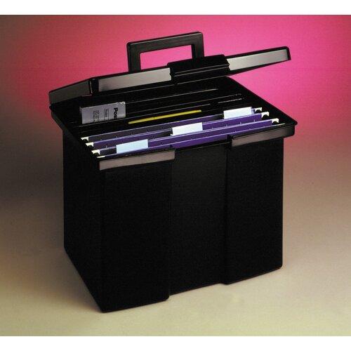 Esselte Pendaflex Corporation Portable File Storage Box, Letter, Plastic, 13 1/2 X 10 1/4 X 10 7/8