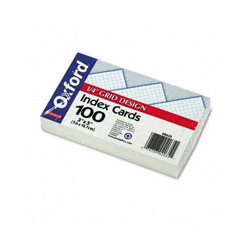 Esselte Pendaflex Corporation Oxford Grid Index Cards, 3 x 5, 100/Pack
