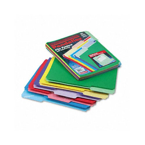 Esselte Pendaflex Corporation File Folders, Infopocket, 1/3 Cut Top Tab, Letter, 30/Pack