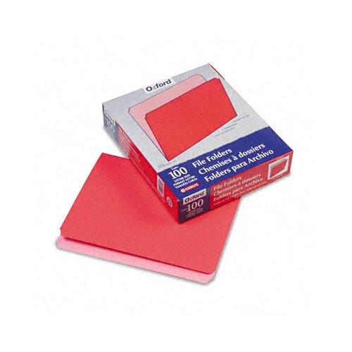 Esselte Pendaflex Corporation Two-Tone File Folder, Straight Cut, Top Tab, Letter, 100/Box
