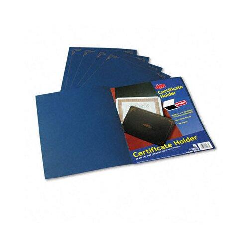 Esselte Pendaflex Corporation Certificate Holder, 80lb Linen Stock, 12 1/2 x 9 3/4, Dark Blue, Five per Pack