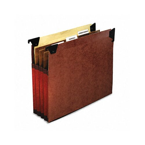 "Esselte Pendaflex Corporation 3 1/2"" Expansion Swing Hook Hanging File Pockets, Manila, Letter, 5/Box"