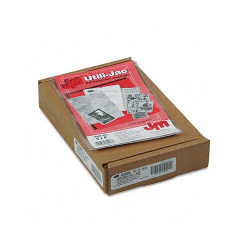Esselte Pendaflex Corporation Oxford Utili-Jacs Heavy-Duty Clear Plastic Envelopes, 5 X 8, 50/Box