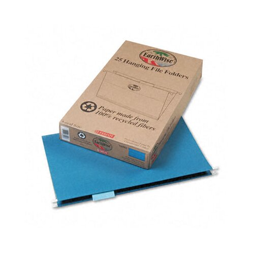 Esselte Pendaflex Corporation Earthwise Earthwise 100% Recycled Paper Hanging Folders, Kraft, Legal, 25/Box