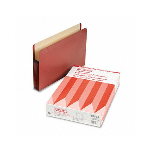 "Esselte Pendaflex Corporation Premium Expansion File, 5 1/4"" Expansion, Straight Cut, Legal, 5/Box"