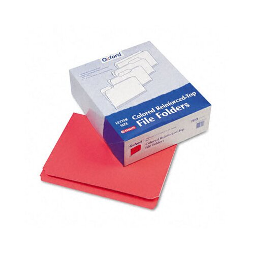 Esselte Pendaflex Corporation Two-Ply Reinforced File Folders, Straight Cut, Top Tab, Letter, 100/Box