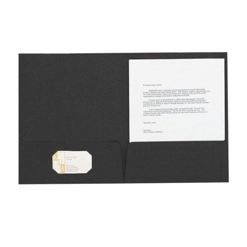 Esselte Pendaflex Corporation Linen Twin Pocket Portfolios, Letter, 5 per Pack, Black