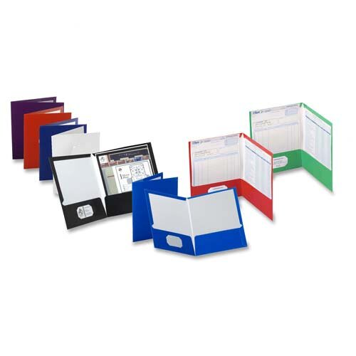 "Esselte Pendaflex Corporation Laminated Portfolio,2-Pocket,11""x8-1/2"",Assorted"