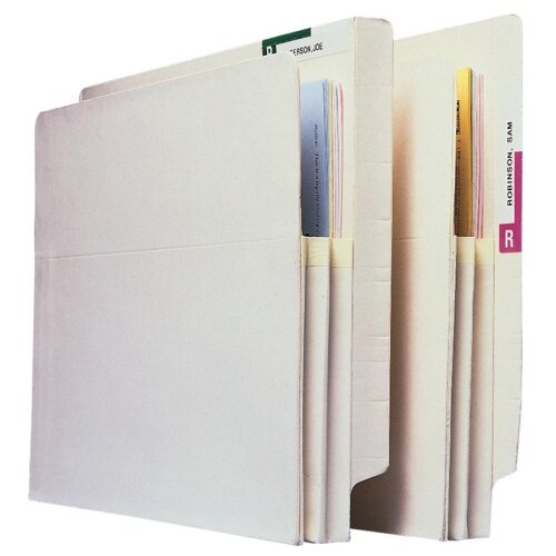 "Esselte Pendaflex Corporation Convertible File Pockets, 5-1/4"" Exp, Letter, 10/BX, Manila"