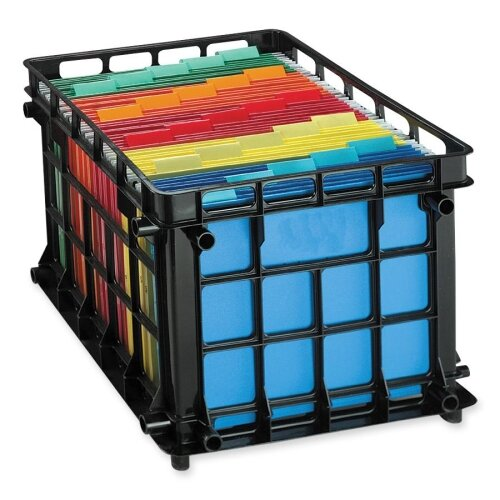 "Esselte Pendaflex Corporation File Crate, Letter/Legal, 13-3/4""x11-1/2""x16-3/4"", Black"