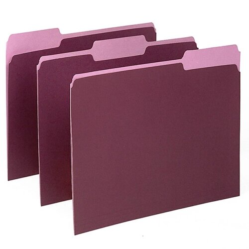 Esselte Pendaflex Corporation Two-Tone File Folders, 1/3 Cut Top Tab, Letter, 100/Box