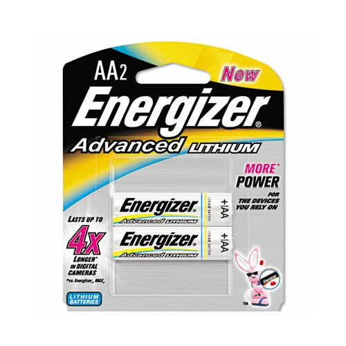 Energizer® Advanced Lithium Batteries, Aa, 2/Pack