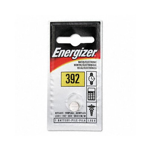 Energizer® Watch/Electronic Battery, Silvox, 392, 1.5V, Mercfree