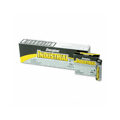 Energizer® Industrial Alkaline Batteries, Aa, 24 Batteries/Box