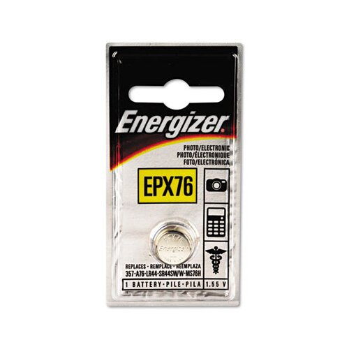 Energizer® Watch/Electronic Battery, Silvox, Epx76, 1.5V, Mercfree