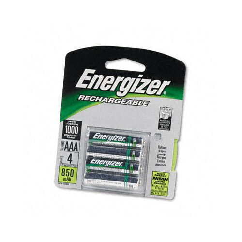 Energizer® E2 Nimh Rechargeable Batteries, Aaa, 4 Batteries/Pack