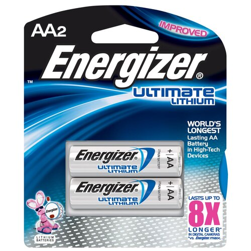 Energizer® AA e² Lithium Photo Battery (2 Pack)
