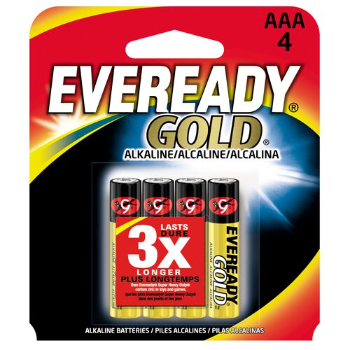 Energizer® AAA Cell Alkaline Battery (4 Pack)